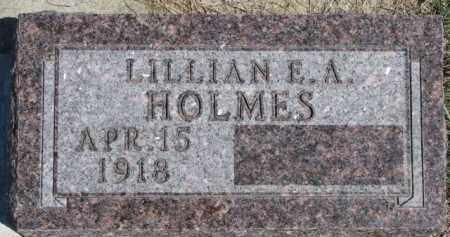 HOLMES, LILLIAN E.A. - Dixon County, Nebraska   LILLIAN E.A. HOLMES - Nebraska Gravestone Photos