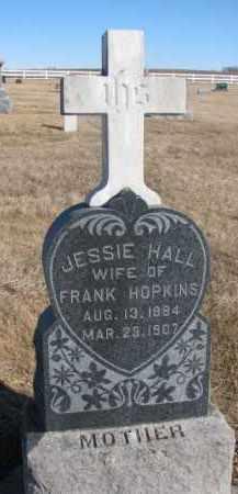 HALL HOPKINS, JESSIE - Dixon County, Nebraska | JESSIE HALL HOPKINS - Nebraska Gravestone Photos