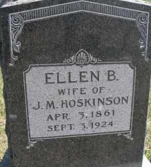 HOSKINSON, ELLEN B. - Dixon County, Nebraska   ELLEN B. HOSKINSON - Nebraska Gravestone Photos