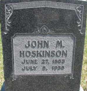 HOSKINSON, JOHN M. - Dixon County, Nebraska | JOHN M. HOSKINSON - Nebraska Gravestone Photos