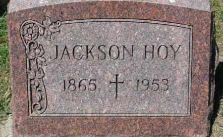HOY, JACKSON - Dixon County, Nebraska   JACKSON HOY - Nebraska Gravestone Photos