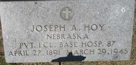 HOY, JOSEPH A. - Dixon County, Nebraska   JOSEPH A. HOY - Nebraska Gravestone Photos