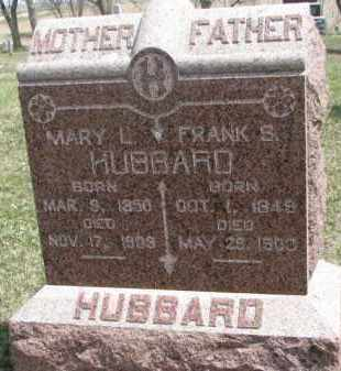 HUBBARD, MARY L. - Dixon County, Nebraska | MARY L. HUBBARD - Nebraska Gravestone Photos