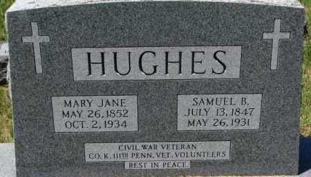 HUGHES, MARY JANE - Dixon County, Nebraska | MARY JANE HUGHES - Nebraska Gravestone Photos