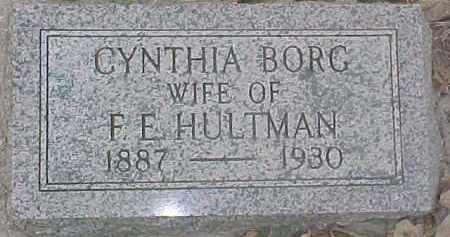 BORG HULTMAN, CYNTHIA - Dixon County, Nebraska | CYNTHIA BORG HULTMAN - Nebraska Gravestone Photos