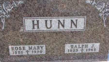 HUNN, RALPH J. - Dixon County, Nebraska   RALPH J. HUNN - Nebraska Gravestone Photos