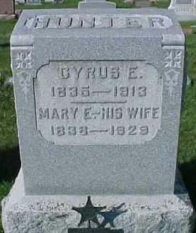 HUNTER, CYRUS E. - Dixon County, Nebraska | CYRUS E. HUNTER - Nebraska Gravestone Photos
