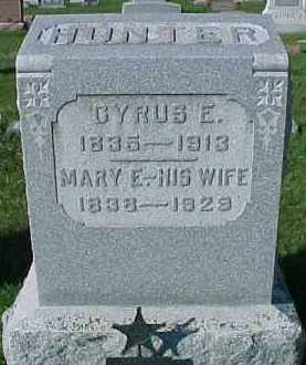 HUNTER, CYRUS E. - Dixon County, Nebraska | CYRUS E. HUNTER - Nebraska Gravestone Photos