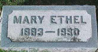 HUNTER, MARY ETHEL - Dixon County, Nebraska | MARY ETHEL HUNTER - Nebraska Gravestone Photos