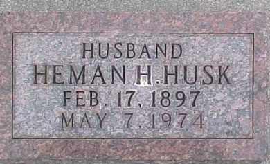 HUSK, HEMAN H. - Dixon County, Nebraska   HEMAN H. HUSK - Nebraska Gravestone Photos