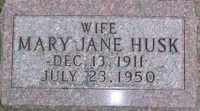 HUSK, MARY JANE - Dixon County, Nebraska | MARY JANE HUSK - Nebraska Gravestone Photos