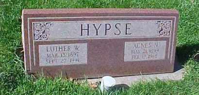 HYPSE, AGNES NORA - Dixon County, Nebraska | AGNES NORA HYPSE - Nebraska Gravestone Photos