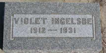 INGELSBE, VIOLET - Dixon County, Nebraska | VIOLET INGELSBE - Nebraska Gravestone Photos
