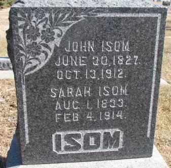ISOM, SARAH - Dixon County, Nebraska   SARAH ISOM - Nebraska Gravestone Photos