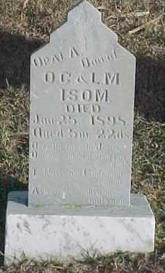 ISOM, OPAL A. - Dixon County, Nebraska | OPAL A. ISOM - Nebraska Gravestone Photos