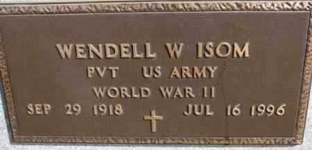 ISOM, WENDELL W. (WW II MARKER) - Dixon County, Nebraska   WENDELL W. (WW II MARKER) ISOM - Nebraska Gravestone Photos