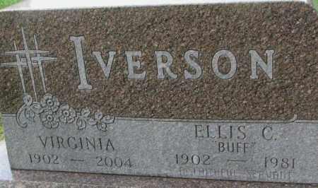 "IVERSON, ELLIS C. ""BUFF"" - Dixon County, Nebraska | ELLIS C. ""BUFF"" IVERSON - Nebraska Gravestone Photos"