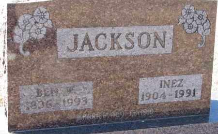 JACKSON, BEN W. - Dixon County, Nebraska | BEN W. JACKSON - Nebraska Gravestone Photos