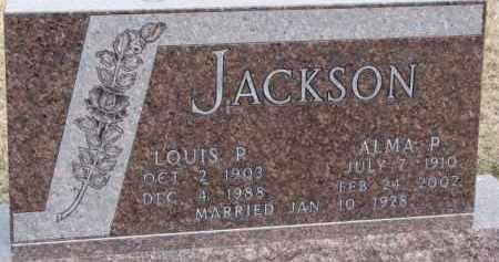 JACKSON, ALMA P. - Dixon County, Nebraska | ALMA P. JACKSON - Nebraska Gravestone Photos
