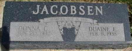 JACOBSEN, DUAINE F. - Dixon County, Nebraska | DUAINE F. JACOBSEN - Nebraska Gravestone Photos