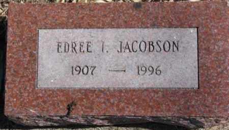 JACOBSON, EDREE I. - Dixon County, Nebraska | EDREE I. JACOBSON - Nebraska Gravestone Photos