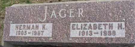 JAGER, HERMAN K. - Dixon County, Nebraska | HERMAN K. JAGER - Nebraska Gravestone Photos