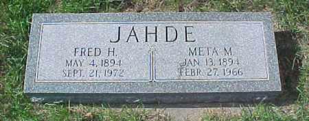 JAHDE, FRED H. - Dixon County, Nebraska   FRED H. JAHDE - Nebraska Gravestone Photos