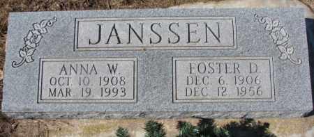 JANSSEN, FOSTER D. - Dixon County, Nebraska | FOSTER D. JANSSEN - Nebraska Gravestone Photos
