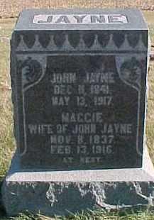 JAYNE, JOHN - Dixon County, Nebraska | JOHN JAYNE - Nebraska Gravestone Photos