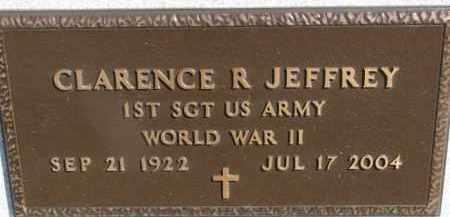 JEFFREY, CLARENCE R. (WW II MARKER) - Dixon County, Nebraska | CLARENCE R. (WW II MARKER) JEFFREY - Nebraska Gravestone Photos