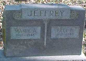 JEFFREY, FRED - Dixon County, Nebraska | FRED JEFFREY - Nebraska Gravestone Photos