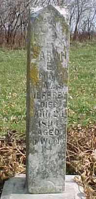 JEFFREY, SARAH E. - Dixon County, Nebraska   SARAH E. JEFFREY - Nebraska Gravestone Photos