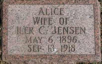 JENSEN, ALICE - Dixon County, Nebraska | ALICE JENSEN - Nebraska Gravestone Photos