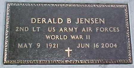 JENSEN, DERALD B.  WWII MARKER - Dixon County, Nebraska | DERALD B.  WWII MARKER JENSEN - Nebraska Gravestone Photos