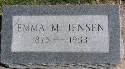 JENSEN, EMMA M. - Dixon County, Nebraska   EMMA M. JENSEN - Nebraska Gravestone Photos