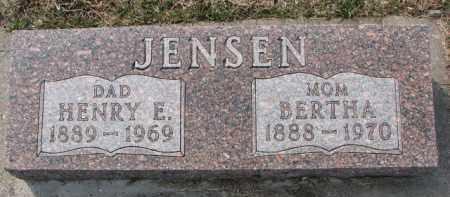 JENSEN, HENRY E. - Dixon County, Nebraska | HENRY E. JENSEN - Nebraska Gravestone Photos