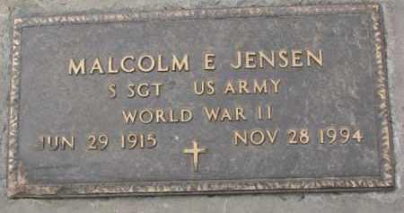 JENSEN, MALCOM E. (WW II MARKER) - Dixon County, Nebraska | MALCOM E. (WW II MARKER) JENSEN - Nebraska Gravestone Photos
