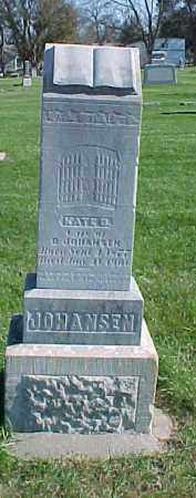 JOHANSEN, KATE B. - Dixon County, Nebraska | KATE B. JOHANSEN - Nebraska Gravestone Photos