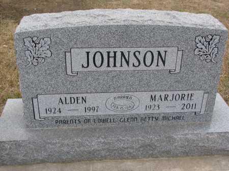 JOHNSON, ALDEN - Dixon County, Nebraska | ALDEN JOHNSON - Nebraska Gravestone Photos