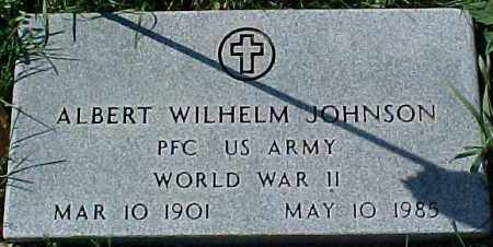JOHNSON, ALBERT WILHELM (WWII MARKER) - Dixon County, Nebraska | ALBERT WILHELM (WWII MARKER) JOHNSON - Nebraska Gravestone Photos