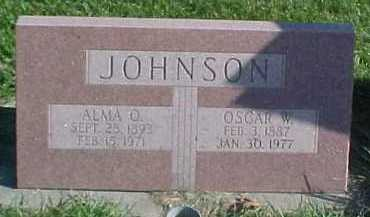 JOHNSON, OSCAR W. - Dixon County, Nebraska | OSCAR W. JOHNSON - Nebraska Gravestone Photos