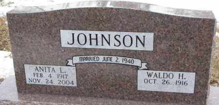 JOHNSON, WALDO H. - Dixon County, Nebraska | WALDO H. JOHNSON - Nebraska Gravestone Photos