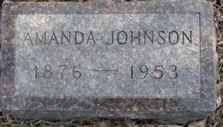 JOHNSON, AMANDA - Dixon County, Nebraska | AMANDA JOHNSON - Nebraska Gravestone Photos