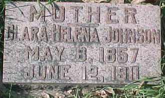 JOHNSON, CLARA HELENA - Dixon County, Nebraska | CLARA HELENA JOHNSON - Nebraska Gravestone Photos
