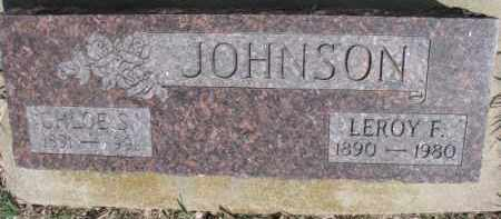 JOHNSON, LEROY F. - Dixon County, Nebraska | LEROY F. JOHNSON - Nebraska Gravestone Photos
