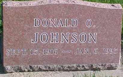 JOHNSON, DONALD O. - Dixon County, Nebraska | DONALD O. JOHNSON - Nebraska Gravestone Photos