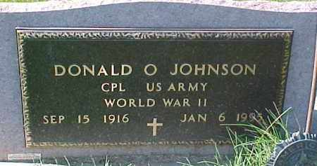JOHNSON, DONALD O. (WWII MARKER) - Dixon County, Nebraska | DONALD O. (WWII MARKER) JOHNSON - Nebraska Gravestone Photos