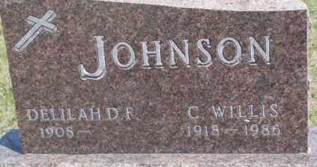 JOHNSON, C. WILLIS - Dixon County, Nebraska | C. WILLIS JOHNSON - Nebraska Gravestone Photos
