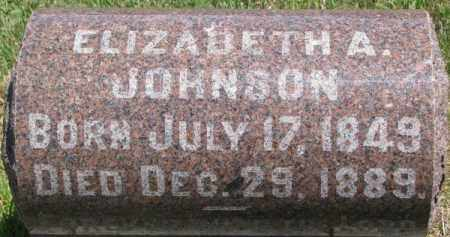 JOHNSON, ELIZABETH A. - Dixon County, Nebraska | ELIZABETH A. JOHNSON - Nebraska Gravestone Photos