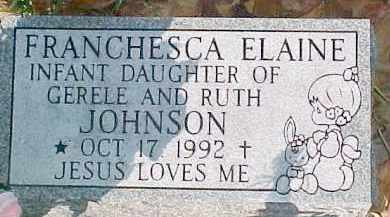 JOHNSON, FRANCHESCA ELAINE - Dixon County, Nebraska | FRANCHESCA ELAINE JOHNSON - Nebraska Gravestone Photos